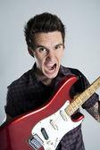 Happy guitar man — Stock Photo