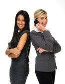 Cute attractive businesswomen — Stock Photo