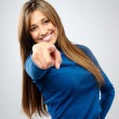Pretty woman pointing — Stock Photo #28390267