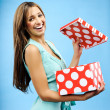 Stock Photo: Receive present