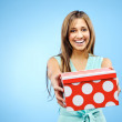 Giving a present — Stock Photo