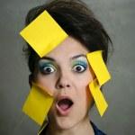Secretary overwhelmed — Stock Photo