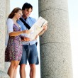 Newly married couple on holiday  — Stock Photo