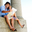 Couple on their honeymoon — Stock Photo