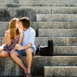 Kissing couple — Stockfoto
