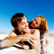 Sandy face couple — Stock Photo