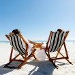 Summer relaxing beach couple — Stock Photo #28392859