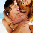 Tropical couple fun — Stock Photo