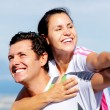 Joyful couple laughing — Stock Photo #28393237