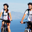 Stock Photo: Bike couple