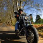 Motorbike man has freedom — Stock Photo