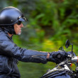 Motorbike man has freedom — Stock Photo #28398907