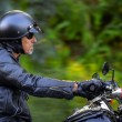 Motorbike man has freedom — Stock Photo