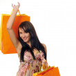 Beautiful girl with shopping — Stock Photo