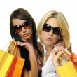 Shopping with a friend — Stock Photo