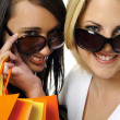 Stock Photo: Shopping with a friend