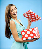 Receive a present — Stock Photo