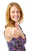Contented thumbs up girl — Stock Photo