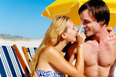 Suncare couple — Stock Photo
