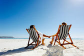 Summer relaxing beach couple — Stock Photo