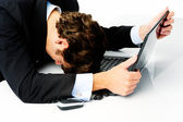 Office worker giving up — Stock Photo