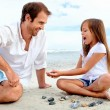 Beach family fun — Stock Photo