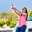 Learner driver happy — Stock Photo #28402453