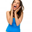 Girl with shocked expression — Stock Photo #28402913
