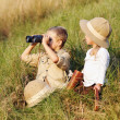 Stock Photo: Safari kids
