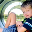 Cute boy in playground — Stock Photo