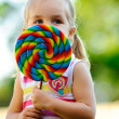 Child with lollipop — Stock Photo