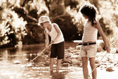 Fishing fun — Stock Photo