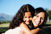 Sunshine motherly love — Stock Photo