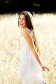Beautiful walking girl — Stock Photo