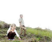 Children exploring — Stock Photo