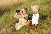 Safari kids — Stock Photo