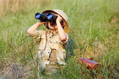 Safari boy — Stock Photo