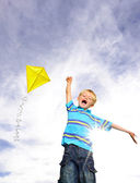 Ambitious blond boy — Stock Photo