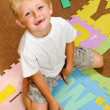 Alphabet student at playschool — Stock Photo