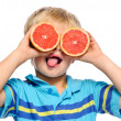 Grapefruit fun — Stock Photo