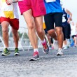 People running marathon — Stock Photo