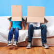 Box face couple — Stock Photo #28417477
