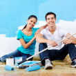 Renovating couple portrait — Stock Photo #28417647