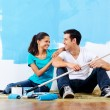 Painting couple — Stock Photo #28417649