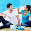 Stock Photo: Renovating couple portrait