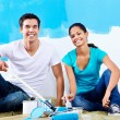 Renovating couple portrait — Stock Photo #28417677