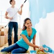 Painting couple — Stock Photo #28417919