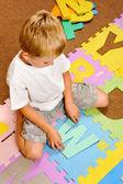 Alphabet mat cutout — Stock Photo