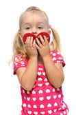 Valentines day for little girl — Stock Photo