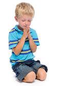 Boy praying — Stock Photo